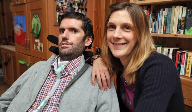 Irish writer and film director Simon Fitzmaurice and his wife Ru