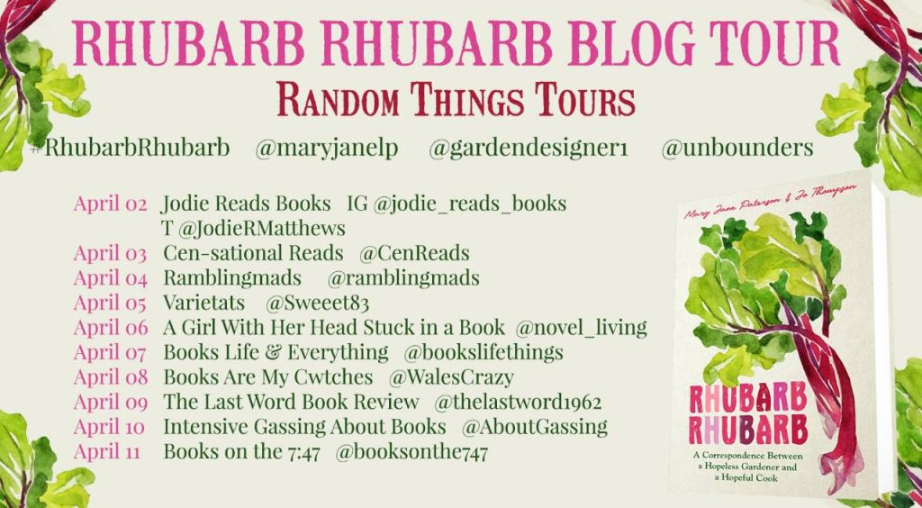 Rhubarb Rhubarb blog tour books on the 7:47 review
