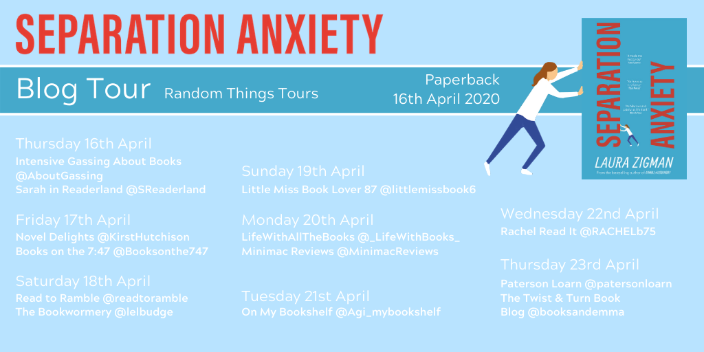 Separation Anxiety blog tour 2020